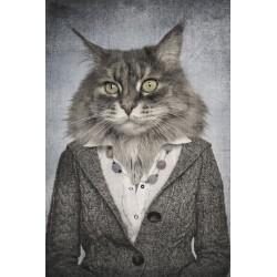 Tableau en verre Chat